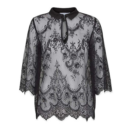 SECOND FEMALE BLUSE - ABETE BLACK
