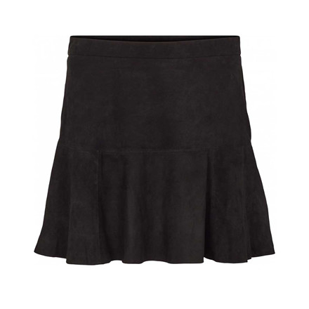 SECOND FEMALE NEDERDEL - LEANNE SUEDE SKIRT BLACK