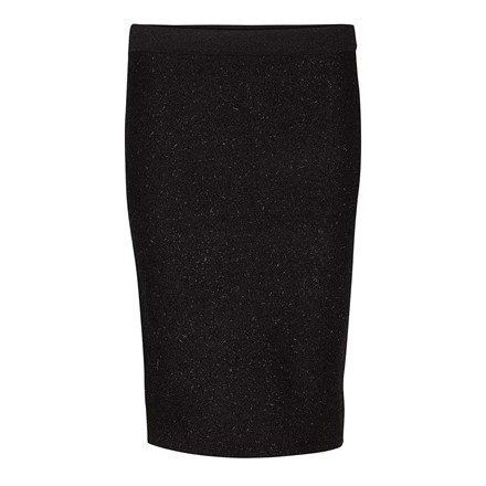 SECOND FEMALE NEDERDEL - IDAL KNIT PENCIL BLACK