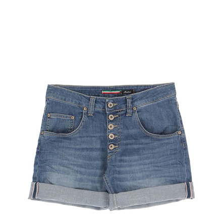 PLEASE JEANS SHORTS -  P88ABQ2 5B BLU