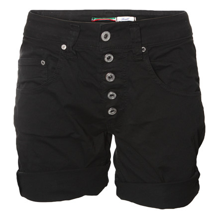 PLEASE JEANS SHORTS -  P88ACV9 5B NERO