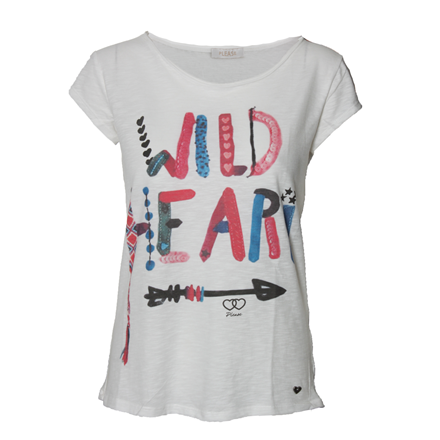 PLEASE T-SHIRT - T50764273 WILD HEART BIANCO