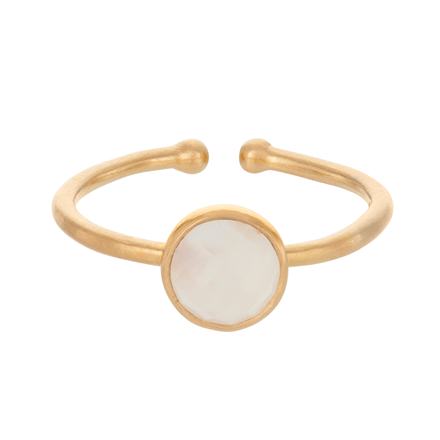 PERNILLE CORYDON  RING - R-093 FROSTED GULD