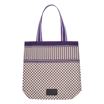 LALA BERLIN TASKE - TOTE CARMELA COLOR BLOCKED OFF-WHITE/NIGHTSHADE