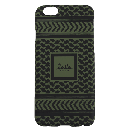 LALA BERLIN IPHONE COVER - IPHONE 6 KUFIYA CYPRESS/BLACK SCRIBBLED