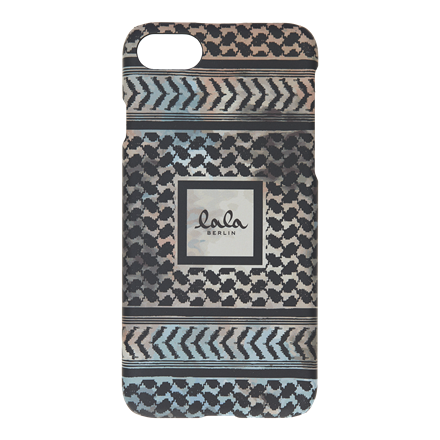 LALA BERLIN IPHONE COVER - IPHONE 7 KUFIYA MULTI/BLACK SCRIBBLED