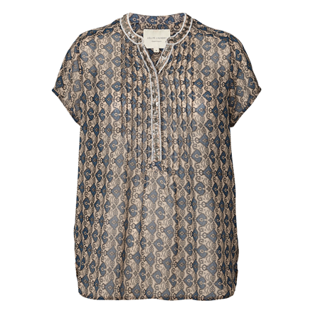 LOLLYS LAUNDRY BLUSE - HEATHER PETROL