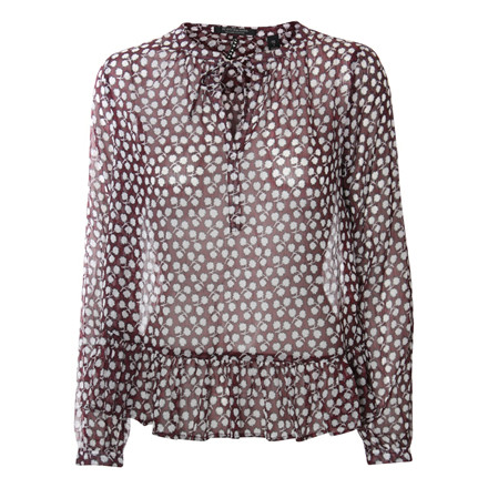 MAISON SCOTCH BLUSE - 102195 20 BORDEAUXRØD