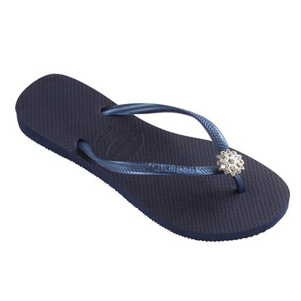 HAVAIANAS SANDAL - SLIM CRYSTAL POEM NAVY BLUE