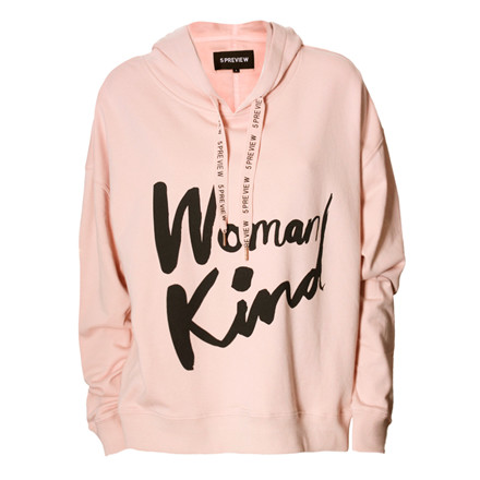 5 PREVIEW HOODIE - ALICIA POWDER PINK