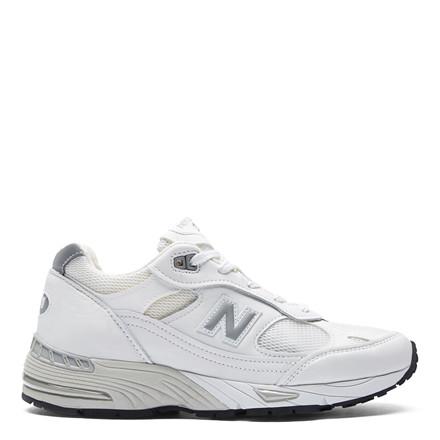 NEW BALANCE SNEAKERS - W991WHI WHITE