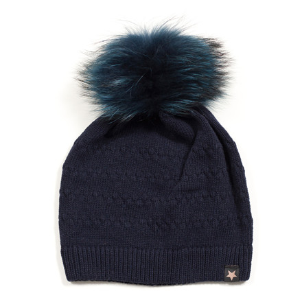 ET-TU HUE - SAILOR KNIT/FUR 51 NAVY