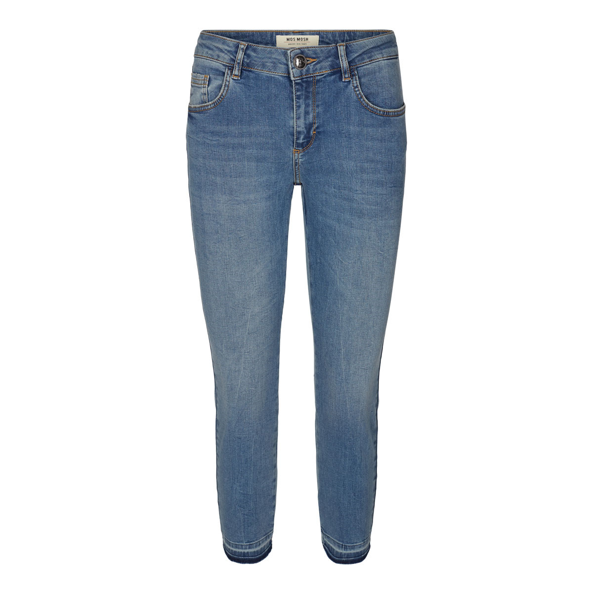 MOS MOSH JEANS - SUMNER SHINE CROPPED - BLEACHED BLUE