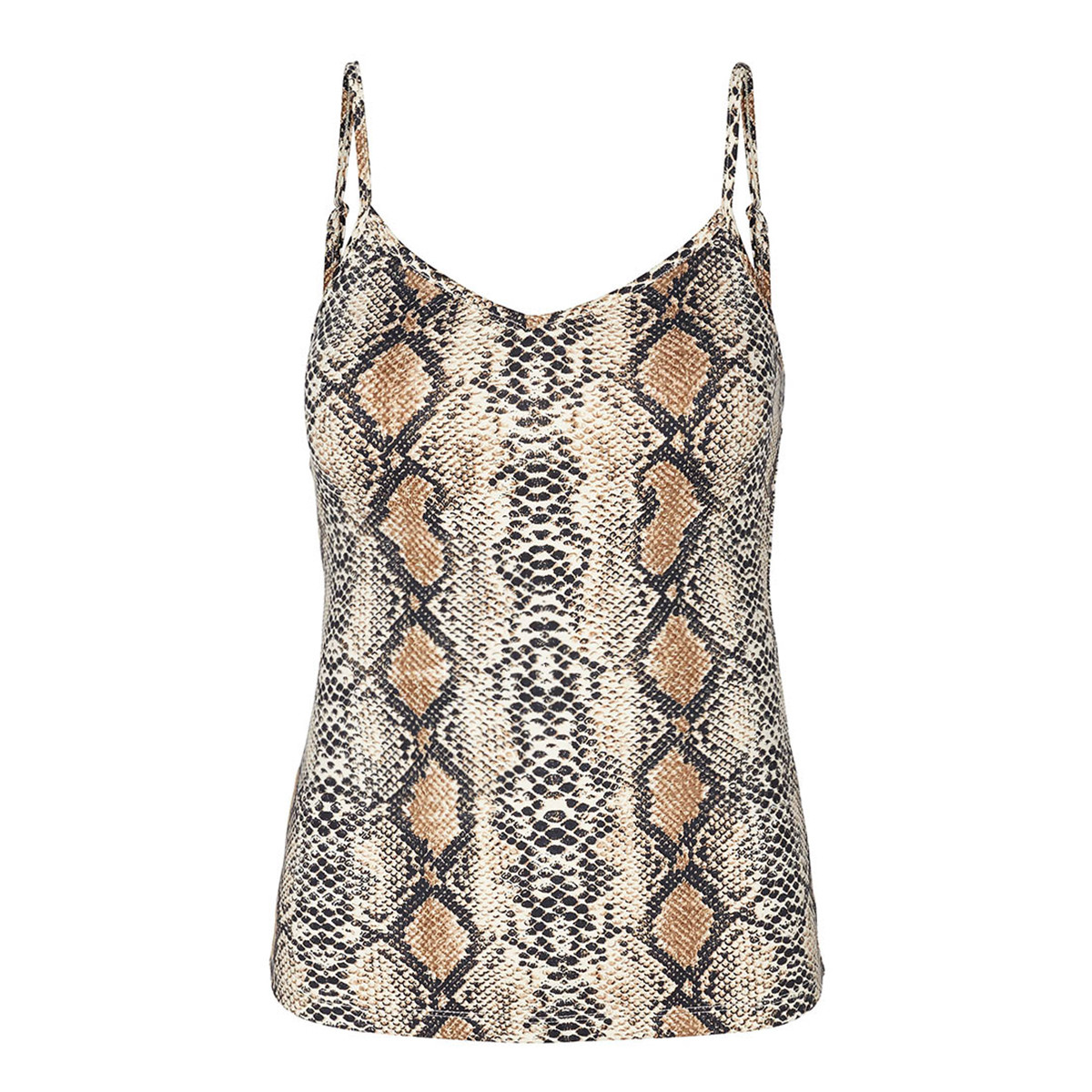 CO'COUTURE TOP - ANIMAL SINGLET SNAKE