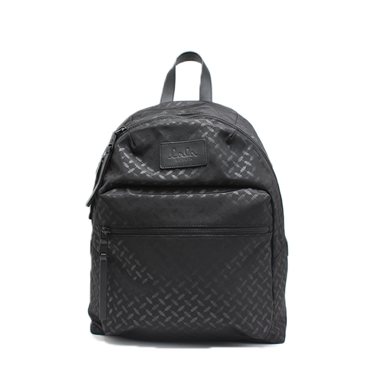LALA BERLIN TASKE - BACKPACK SELINA NYLON KUFIYA CLASSIC BLACK