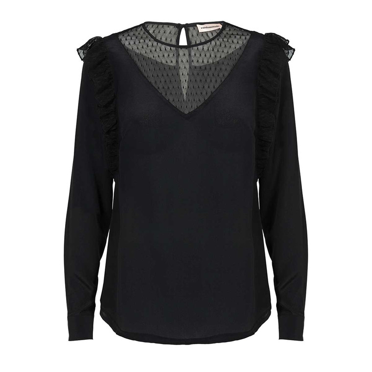 CUSTOMMADE BLUSE - HENRIETTE ANTHRACITE BLACK