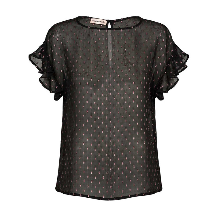CUSTOMMADE BLUSE - RITTA ANTHRACITE BLACK
