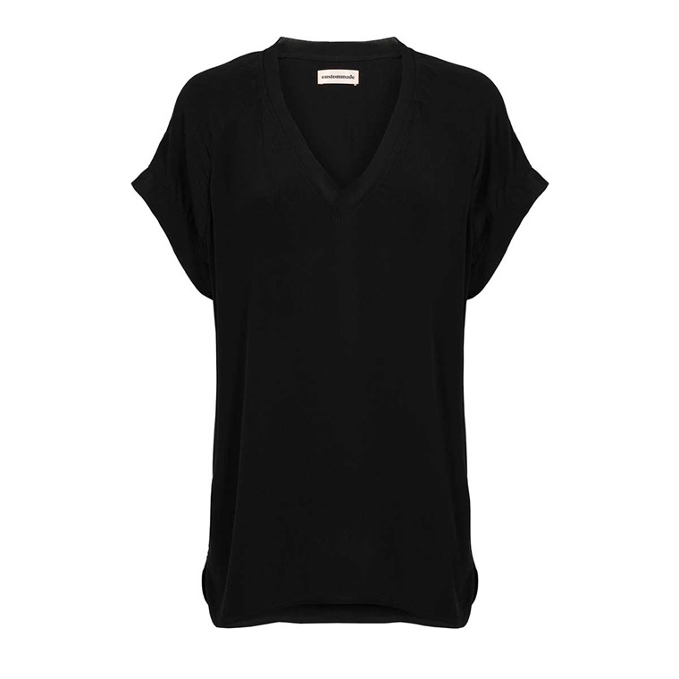 CUSTOMMADE BLUSE - NIEL ANTHRACITE BLACK