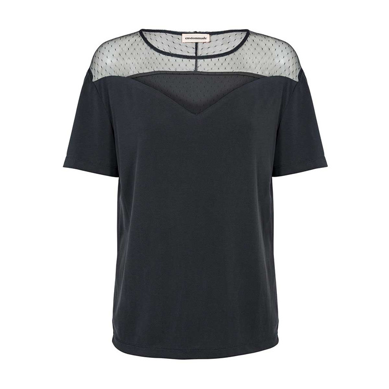 CUSTOMMADE T-SHIRT - CALINA ANTHRACITE BLACK
