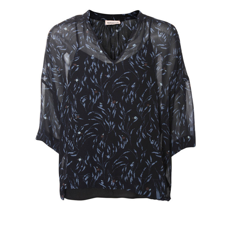 CUSTOMMADE BLUSE - JULIANE ANTHRACITE BLACK