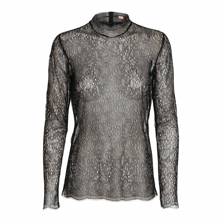 CUSTOMMADE BLUSE - HASNA GLITTER ANTHRACITE BLACK