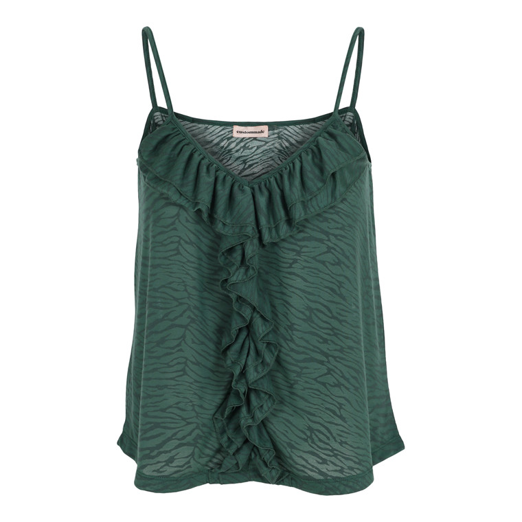 CUSTOMMADE TOP - MARGRETHE POSY GREEN