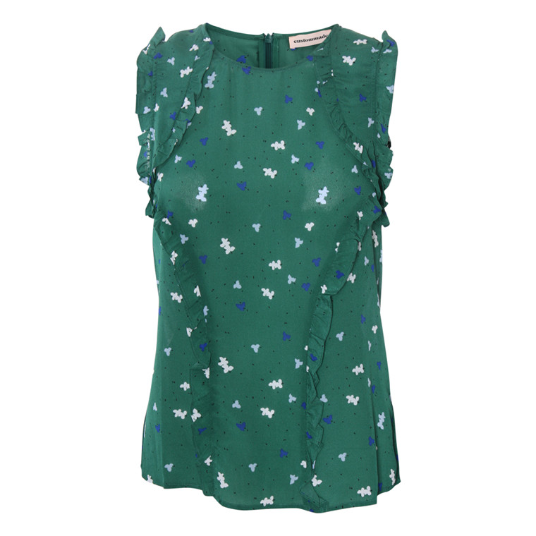 CUSTOMMADE TOP - LINE POSY GREEN