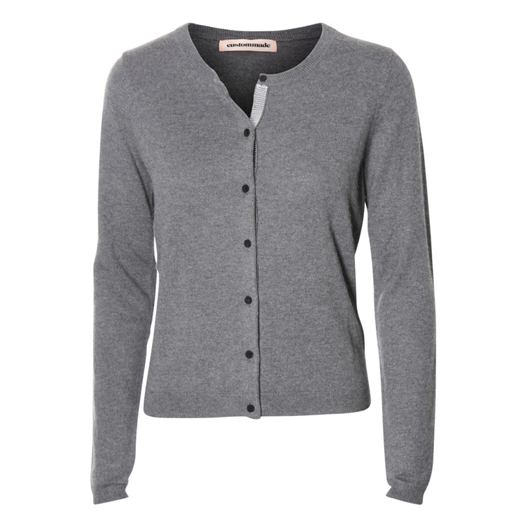CUSTOMMADE CARDIGAN - DAGMAR  905 GREY MELANGE