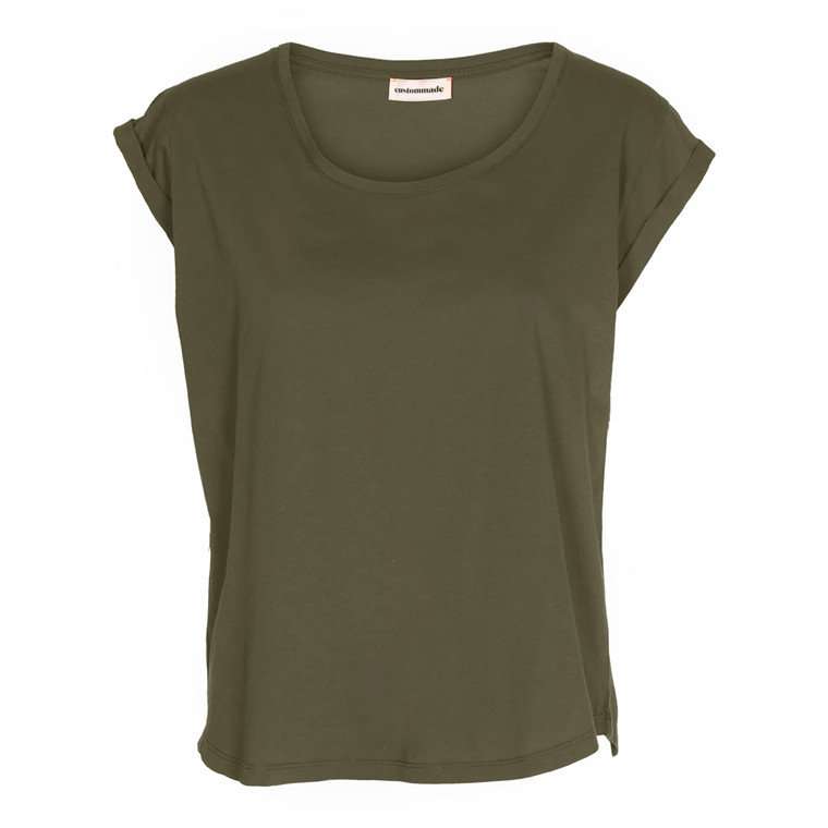 CUSTOMMADE T-SHIRT - LONNIE 300 DARK OLIVE
