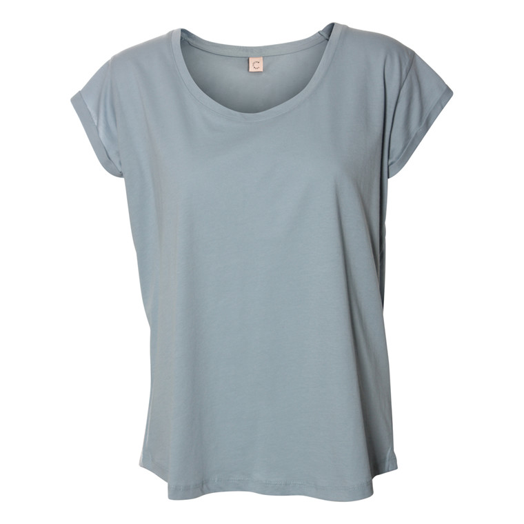 CUSTOMMADE T-SHIRT - LONNIE PLAIN DUSTY BLUE