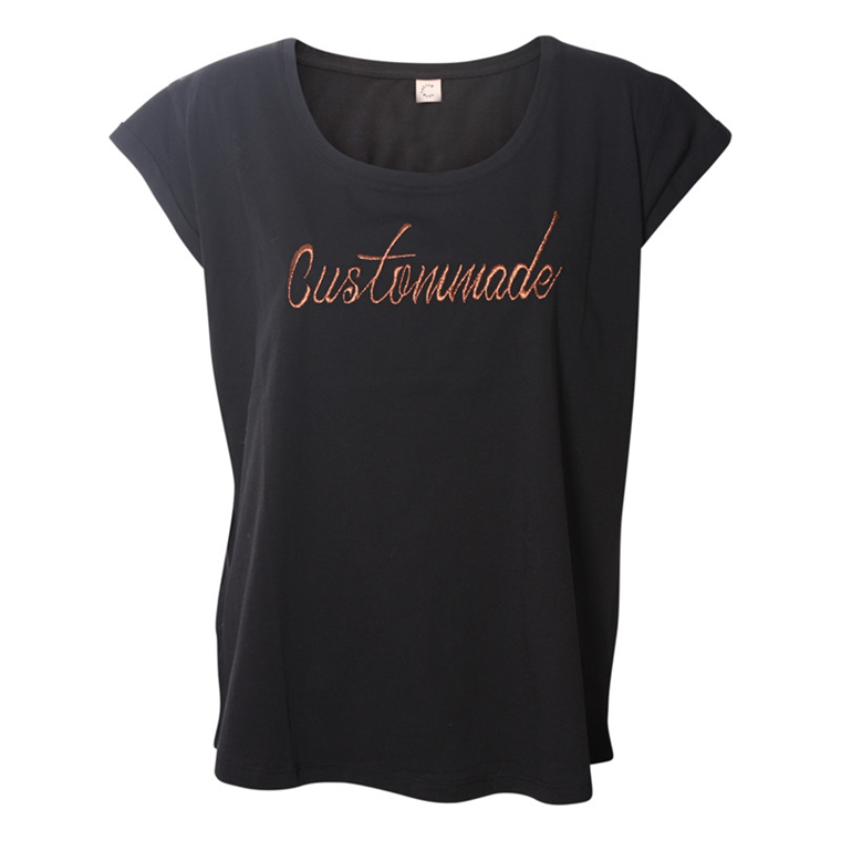 CUSTOMMADE T-SHIRT - LONNIE LOGO TEE ANTHRACITE BLACK