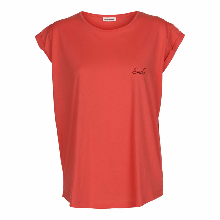 CUSTOMMADE T-SHIRT - CONNIE SMILE CAYENNE RED