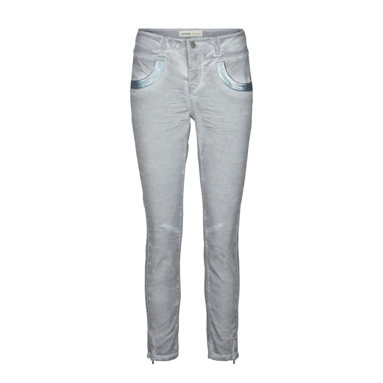 MOS MOSH MAT JEANS - NAOMI GLAM 7/8 DUSTY BLUE