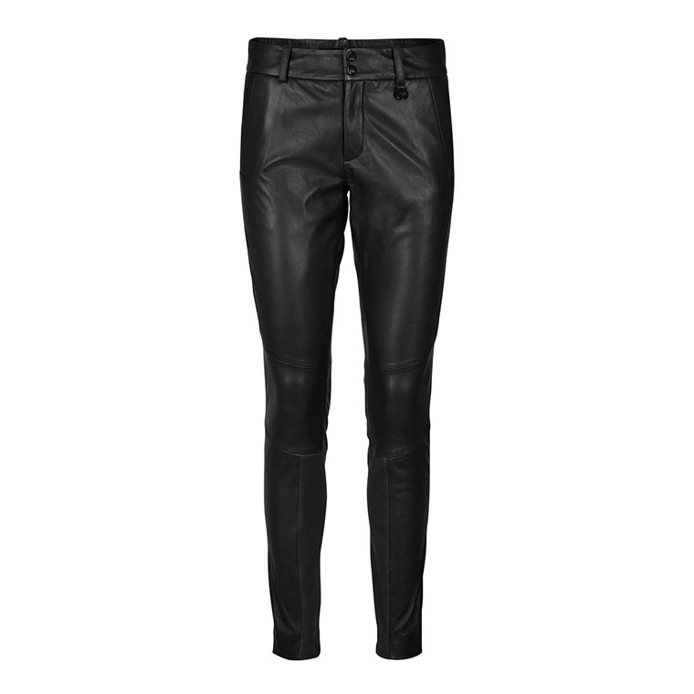 MOS MOSH SKINDBUKSER - BLAKE LEATHER PANT BLACK