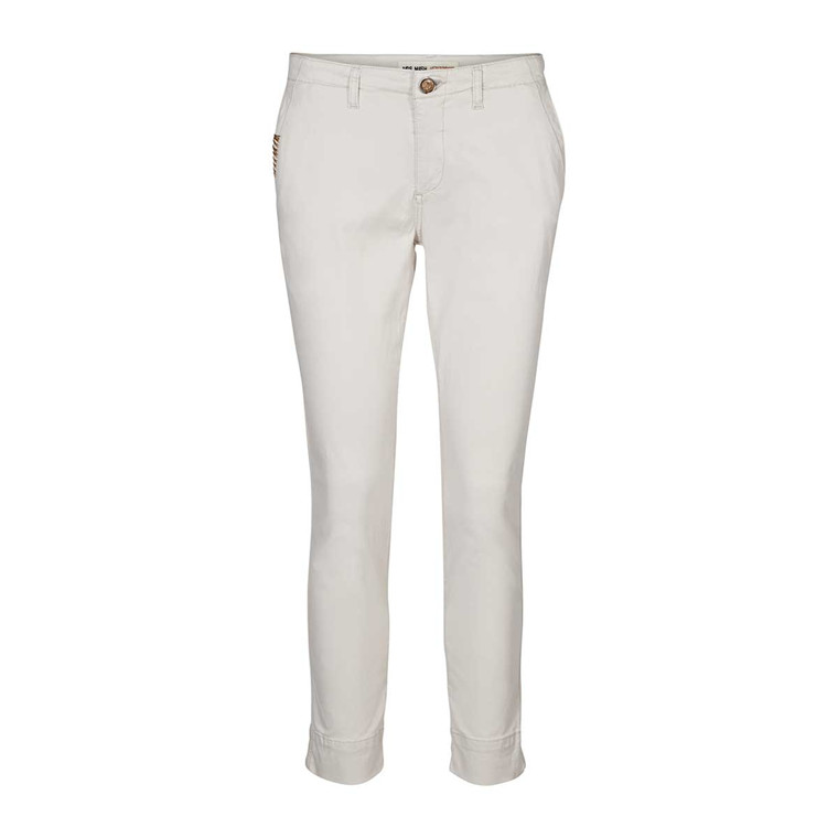 MOS MOSH BUKSER - FREYA REUNION CHINO LIGHT GREY