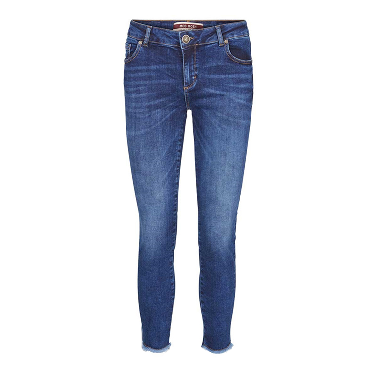 MOS MOSH JEANS - SUMNER STEP BLUE DENIM