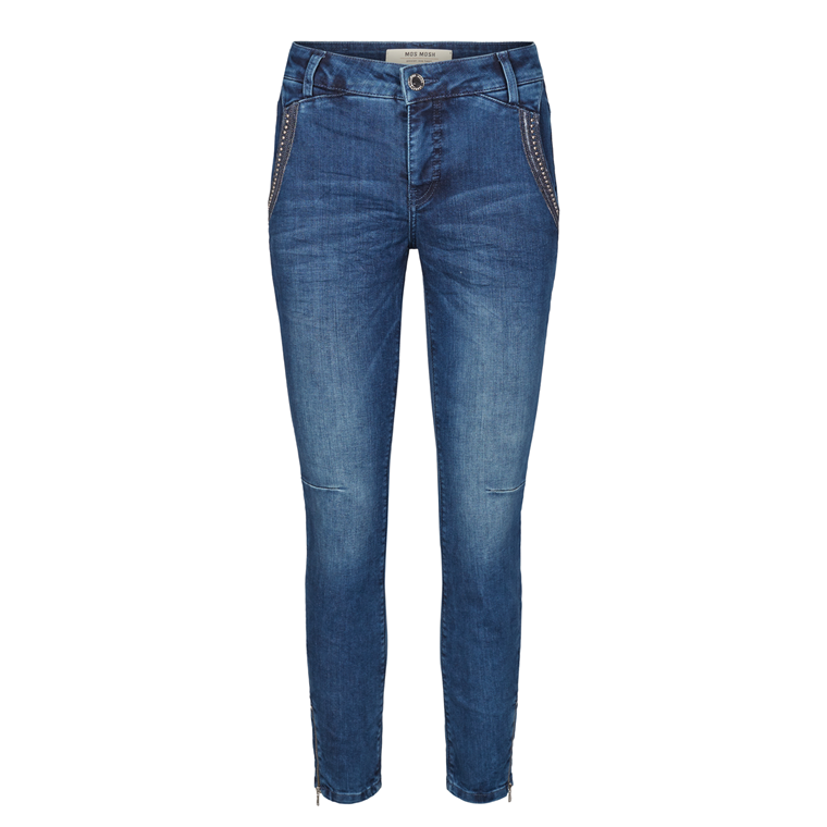 MOS MOSH JEANS - ETTA SHINE ZIP 7/8 BLUE DENIM