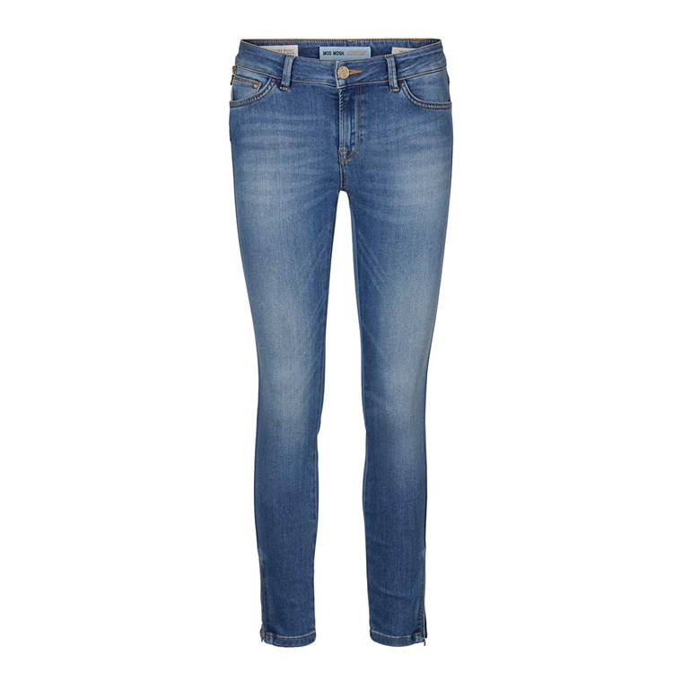 MOS MOSH JEANS - ATHENA SKINNY 7/8 BLEACHED BLUE