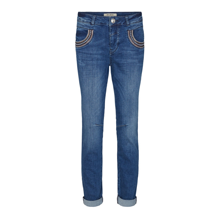 MOS MOSH JEANS - NAOMI MUSCAT LONG DENIM BLUE
