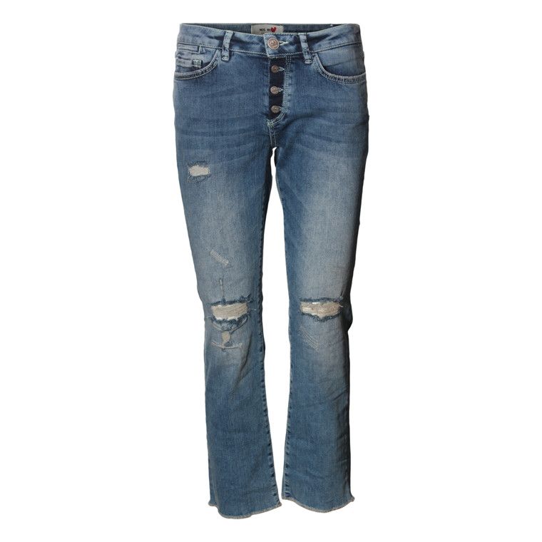 MOS MOSH JEANS - SUNN DESTROYED BLUE DENIM