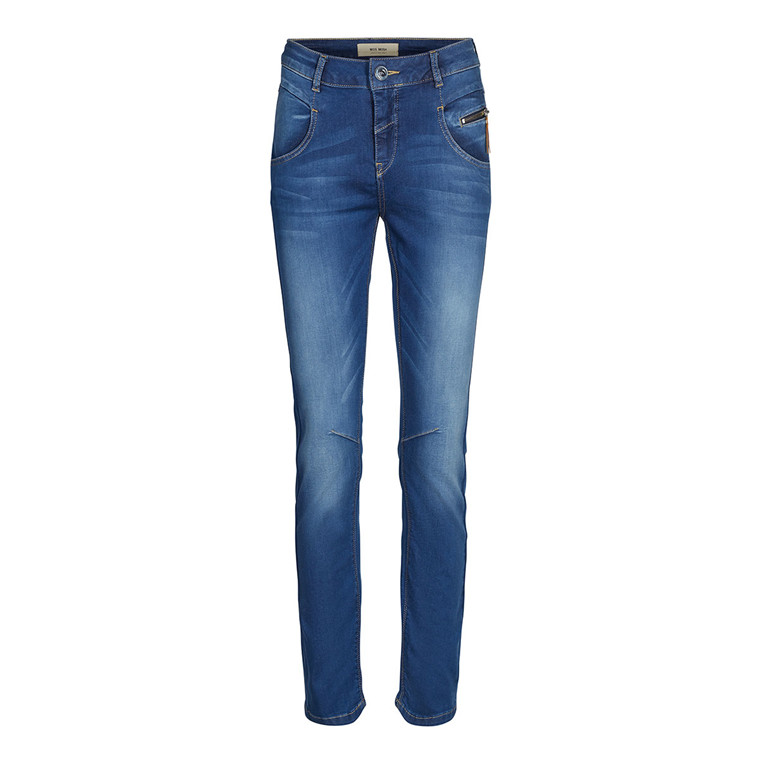 MOS MOSH JEANS - NELLY SATEEN BLUE DENIM