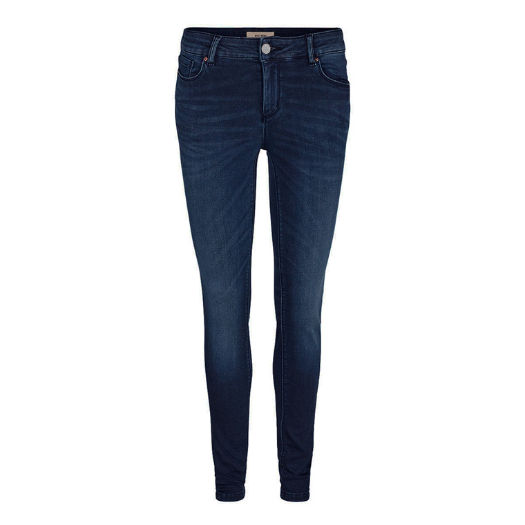MOS MOSH JEANS - JADE COSY KNIT BLUE BLACK DENIM