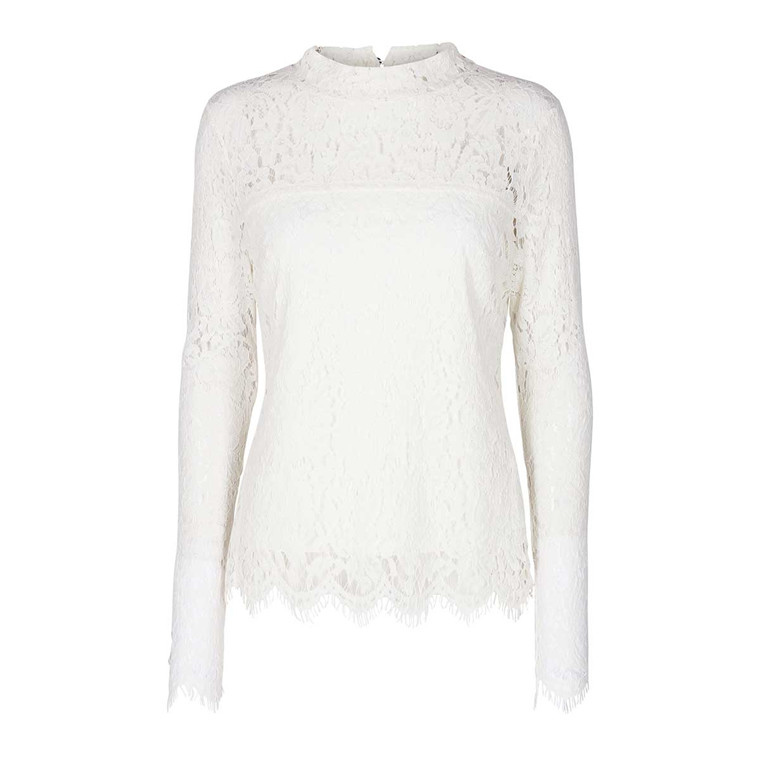 MOS MOSH BLUSE - PIPER LACE OFFWHITE