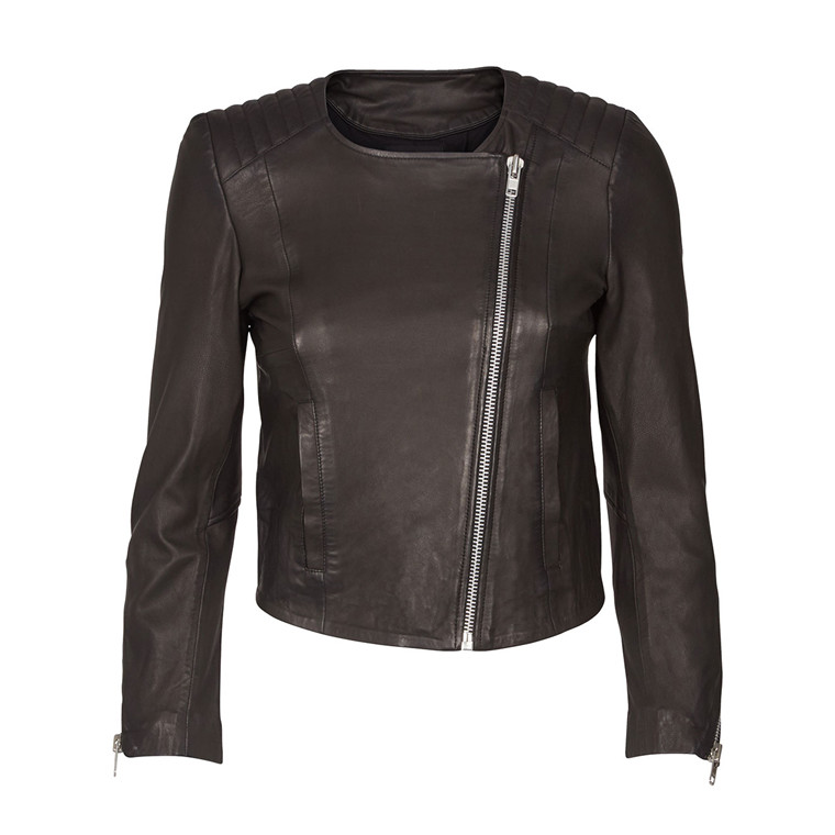 MOS MOSH SKINDJAKKE - MEERA LEATHER JACKET BLACK