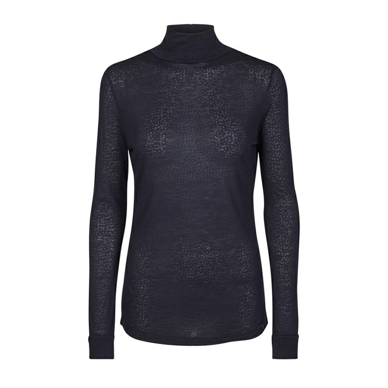 MOS MOSH BLUSE - EWERS HEART TURTLE NECK NAVY