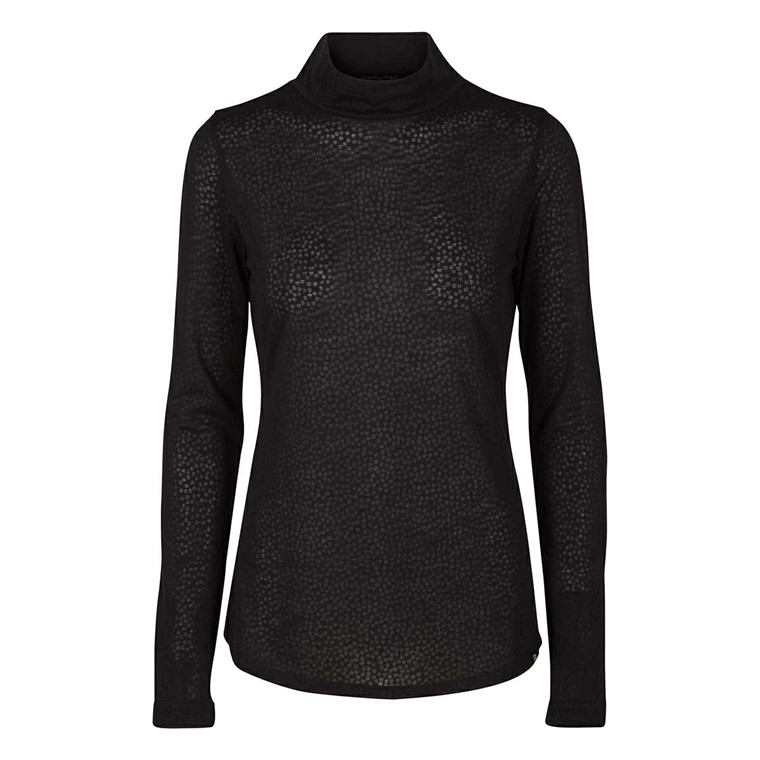 MOS MOSH BLUSE - EWERS HEART TURTLE NECK BLACK