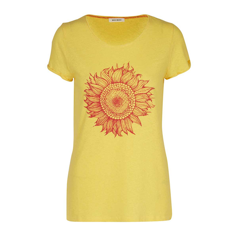 MOS MOSH T-SHIRT - SUN TEE YELLOW