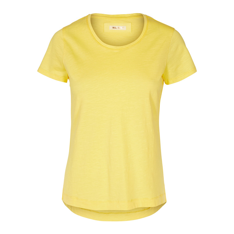 MOS MOSH T-SHIRT - ARDEN O-NECK LEMON