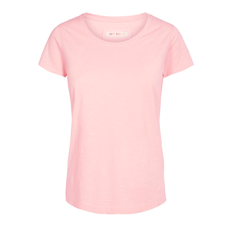 MOS MOSH T-SHIRT - ARDEN O-NECK SOFT ROSE