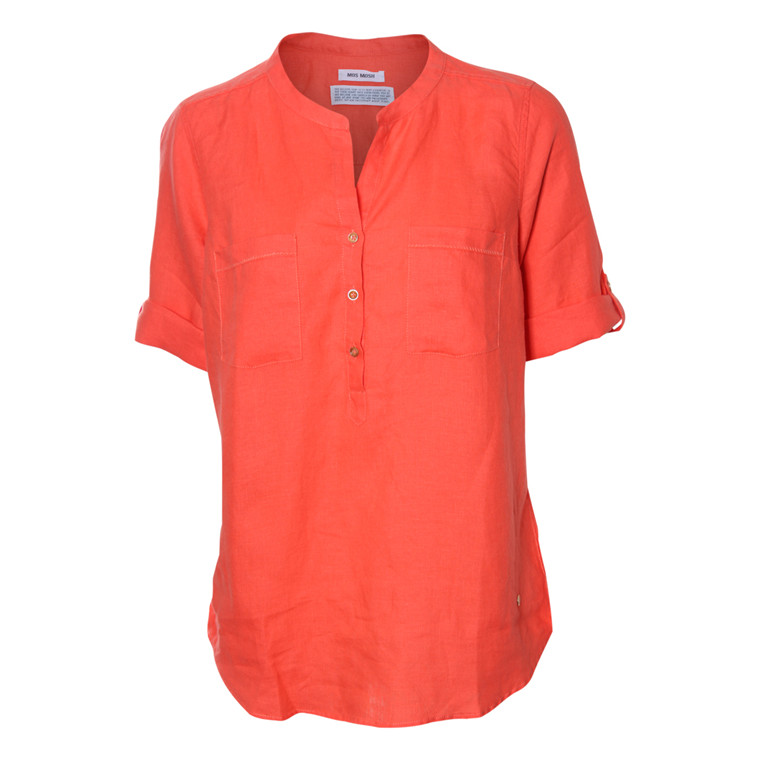MOS MOSH BLUSE - RONJA LINEN 310 CORAL